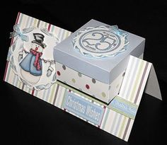 Super cute way for small presentations - place card with mints or door treat 3d Cards, Pop Up Cards, Holiday Cards, Christmas Cards, Blue Christmas, Fancy Fold Cards, Folded Cards, Shaped Cards, Card Tutorials