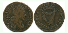 1680 Armstrong & Legge's Regal Coinage - Large letters, Harp of 16 Strings Large Letters, Harp, Personalized Items, Big Letters