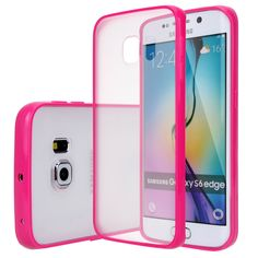 Galaxy S6 Edge - Sizzling Color Frame With Clear Back Case in Assorted Colors