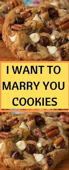 I Want To Marry You Cookies - Cookie Recipes - Cookie Desserts, Dessert Recipes, Delicious Desserts, Yummy Food, Tasty, Dessert Aux Fruits, Cupcakes, Yummy Cookies, Cinnamon Roll Cookies