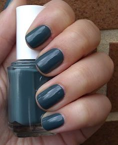 essie - school of hard rocks @Kristin Cantrell, is this blue permissible?  I mean, I don't wear fake silver buckles on my shoes, so would it be okay???