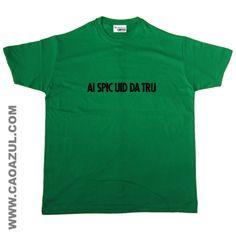 AI SPIC UID t-shirt cão azul