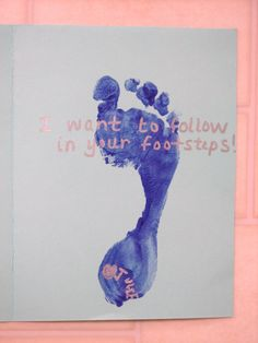 father's day card-follow your footsteps