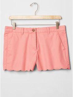 Scalloped summer shorts | Gap