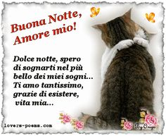 Buonanotte Amore Mio – Good Night My Love – frasi e immagini – Pagina 3 Keep Calm And Love, Bellisima, Language, Dolce, Bella, Facebook, Frases, Stars, Palette Knife Painting