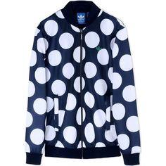 Adidas Originals Zip Sweatshirt ($100) ❤ liked on Polyvore featuring mens, men's clothing and dark blue