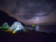 Stargazing with the crashing waves in the background is especially sublime.