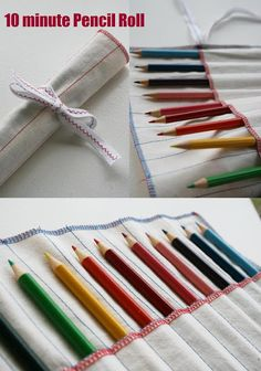 4.  10 Minute Pencil Roll {Kids Gifts} ~ A quick little project that makes a great gift and can be whipped up at short notice with materials from your stash. Only basic sewing skills required, so this is a great beginner project.