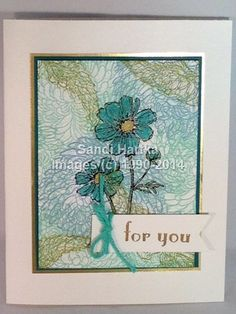 Stampinup hand stamped greeting card hello doily perfectly similar ideas m4hsunfo