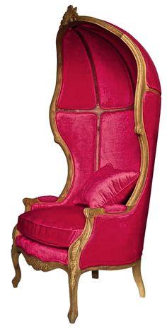 Gorgeous fuchsia velvet armchair Carrosse