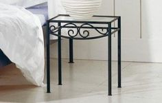 Wrought Iron Bedside Table - Foter