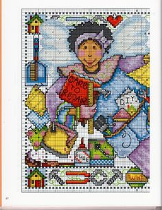 Gallery.ru / Фото #54 - 2007 A Womans World in Cross Stitch_Joan Elliott - Chispitas