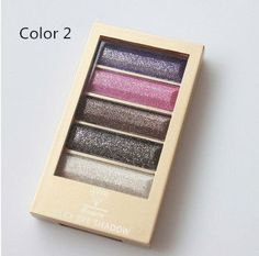 5 Color Waterproof Eyeshadow Makeup Eye Shadow Palette,Super Flash Diamond Eyeshadow High Quality With Brush
