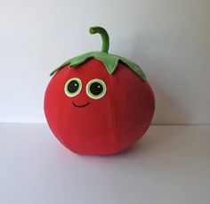Tomato Pillow Throw Pillow HANDMADE by ProjectOrange on Etsy, $30.00