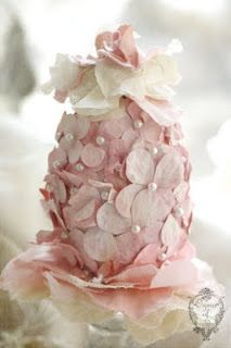 Hydrangea Egg You may use a brown paper egg, paper flower petals, paper pictures, glue or pin...K