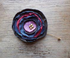 Large Flower Boutonniere Poppy Boutonierre by FairytaleFlower