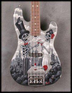 skeleton bass guitar