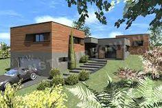Image result for maison contemporaine avec garage  1e étage