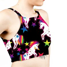 6b20162f29 HIGH NECK BRALET CROP TOP When all you want to do is be a Unicorn!