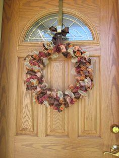 Coffee, Caramel & Cream: DIY Ribbon Wreath