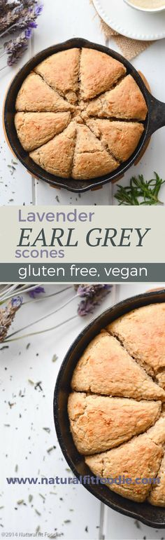 These delicious Lavender Earl Grey Scones (gluten free, vegan) are simply a delicious morning or afternoon snack. In fact, I like to enjoy them with, none other than, tea.