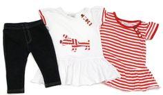 3-tlg. Kombination für Mädchen:  Leggings, Kleid oder Tunika, Größe: 74, englische Mode