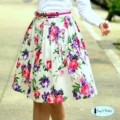 Cotton Floral Modest Skirt, $25.00
