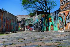 Beco do Batman, em São Paulo. Visite o BrasilGuias