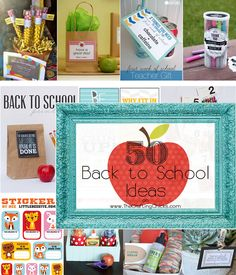 50 Back to School Ideas - crafts,notes, printables, photo ideas, teacher gifts and so much more - enjoy! Back To School Teacher, 1st Day Of School, Back To School Gifts, Beginning Of School, School Fun, School Ideas, Teacher Appreciation Gifts, Teacher Gifts, School Signs