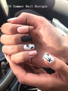 Cute Spring Nails, Cute Nails, Nail Summer, Pretty Nails For Summer, Nail Art Ideas For Summer, Cool Nail Ideas, White Summer Nails, Pretty Short Nails, Diy Ideas