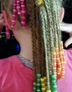 Braids and beads Braids With Beads, Friendship Bracelets, Hairstyles, Beauty, Jewelry, Fashion, Haircut Designs, Beleza, Jewellery Making