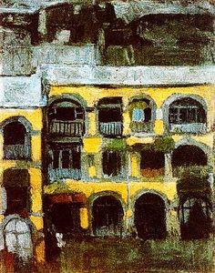 """A Blue House"" - Pablo Picasso."