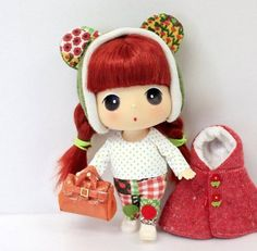 "Ddung 7"" Red Cape Cute Doll Figure Collectible Toy Girl X-mas Korean Kawaii Best Gift for Everyone Ship Worldwide"