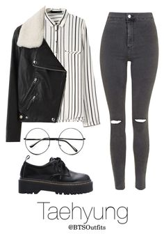 """""""Night Out with Taehyung"""" by btsoutfits ❤ liked on Polyvore featuring Acne Studios, Topshop and Retrò"""