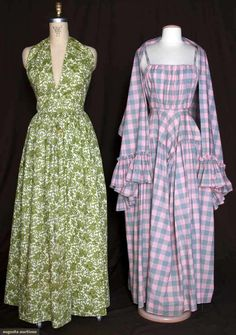 Augusta Auctions, March 30, 2011 - St. Pauls, Lot 380: Two Cashin Printed Summer Gowns, 1942 & 1954
