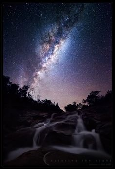 Cascade II by CapturingTheNight.deviantart.com on @deviantART #photography #starlight #night