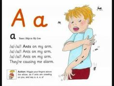 All Jolly Phonics letters in one convenient place...with the exception of Q.  Great visual students can follow and sing with to learn their letter-sound connections.