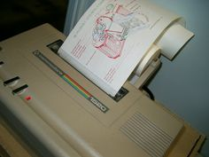 Graphic Booster printing to Commodore 1520 a cut away diagram of a 35mm camera