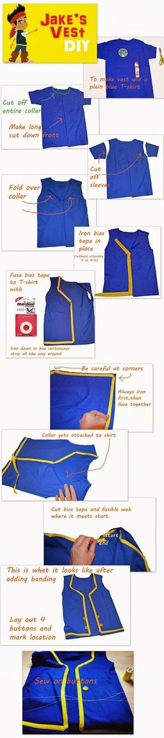 Disney's Jake and the Neverland Pirates DIY Jake's Vest Tutorial