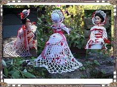 de La fouine crochette Barbie, Creations, Victorian, Christmas Ornaments, Holiday Decor, Free Crochet, Crochet Pattern, Dragon, Home Decor
