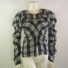 #Vintage #John #Galliano Twisted Woven Check Shirt #1987. London Label