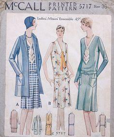 McCall 5717 | 1929 Ladies' & Misses' Ensemble