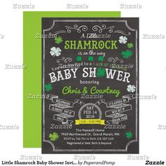 Little Shamrock Baby Shower Invitation