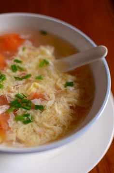 tomato egg flower soup