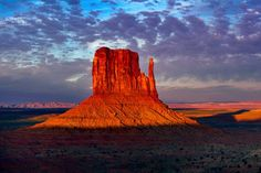 Sunset, Left Mitten, Monument Valley, Utah