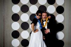 Green + Black Retro Palm Springs Wedding: photobooth  www.joyfulweddingsandevents.com