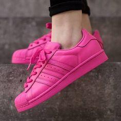 adidas originals superstar supercolor pharrell williams shoes semi solar pink hot