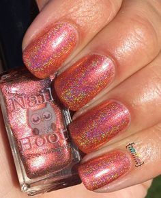 Items similar to Leviticus Holo'd by Nail Hoot Holographic Polish 5 Free Indie Polish Polish Indie Lacquer Duochrome Lacquer Red Polish on Etsy Red Polish, Nail Polish, Holographic, Indie, Peach, Nails, Unique Jewelry, Handmade Gifts, Manicure Ideas