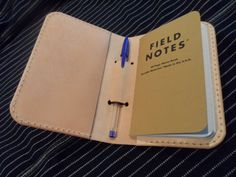 Leather Field Notes/passport cover, (FREE UK SHIPPING) by SleepingDogsLeather…
