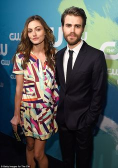 Vampire love: Actress Phoebe Tonkin and her boyfriend Paul Wesley stepped out for The CW Network's 2016 Upfront event in New York City on Thursday